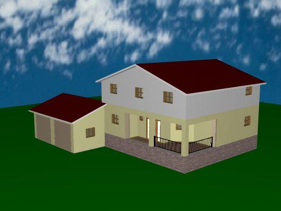 Artist's impression van de voorkant van ons nieuw te bouwen huis