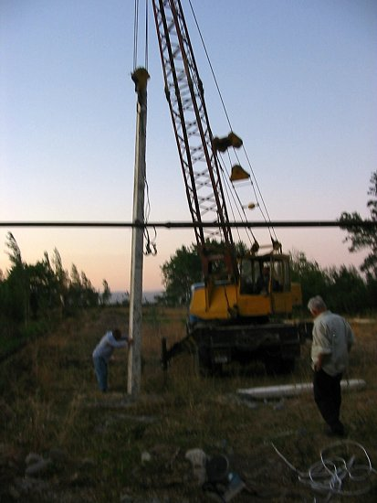 Elektriciteitspaal is geplaatst