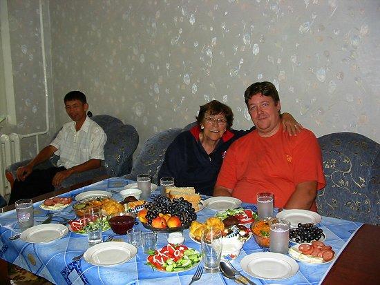 Aan tafel bij Diana