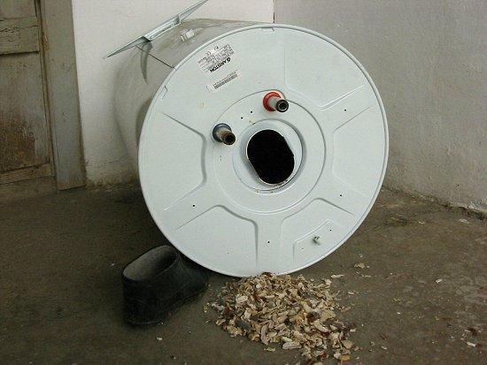 Ketelsteen uit onze boiler