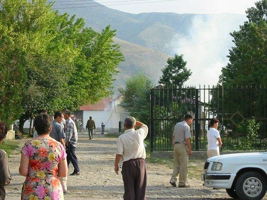 Brand bij het natuurreservaat