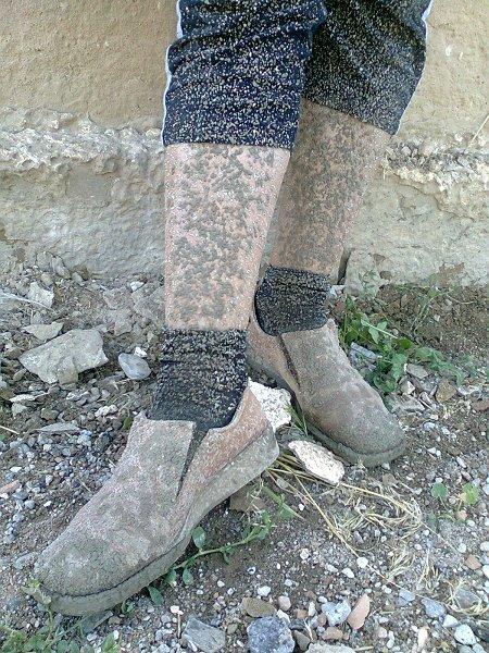 Cement op Elmira's benen