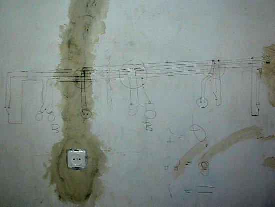 Elektrische schema van de corridor