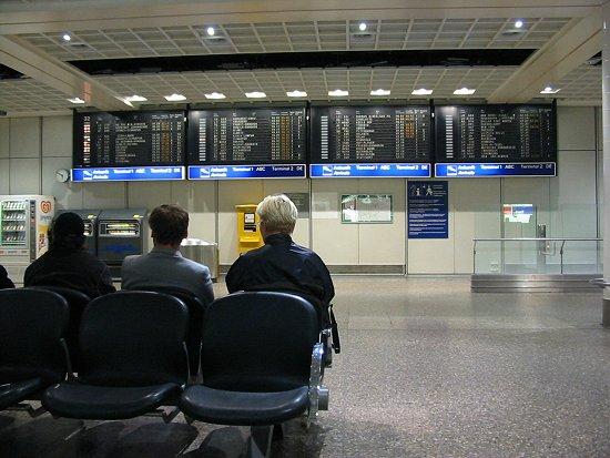 Aankomsthal luchthaven Frankfurt