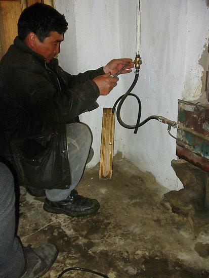 Controle van de gasdruk