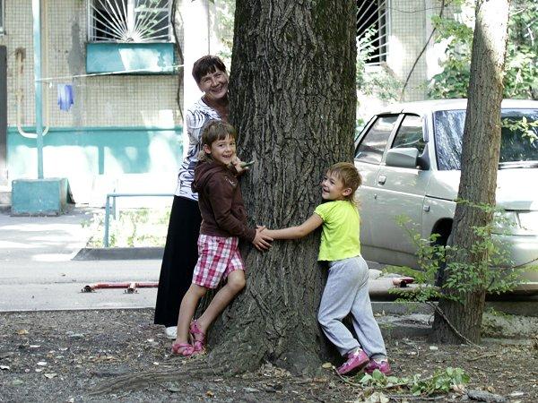 Boom geplant door Elmira's moeder