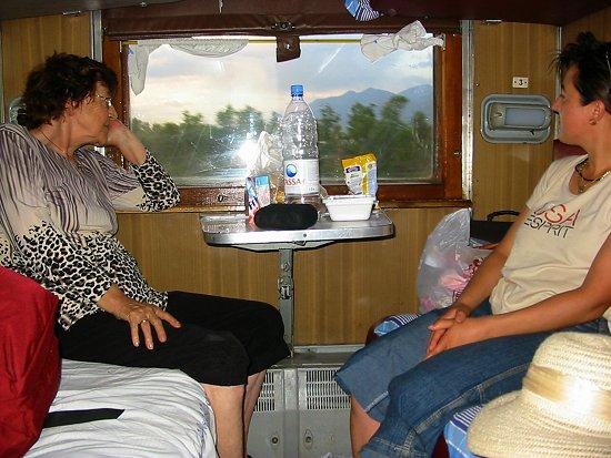 In de trein van Almaty naar Tjulkebas