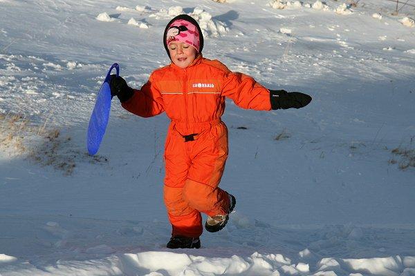 Isabel in de sneeuw