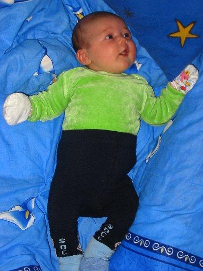Isabel vijf weken oud