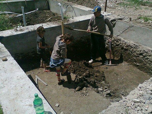 Uitgraven van onze kelder