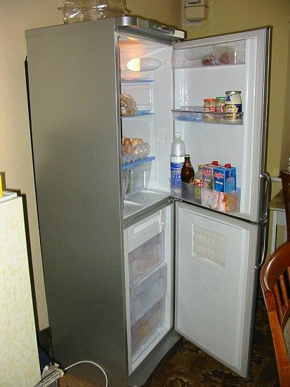 Onze nieuwe koelkast in gebruik