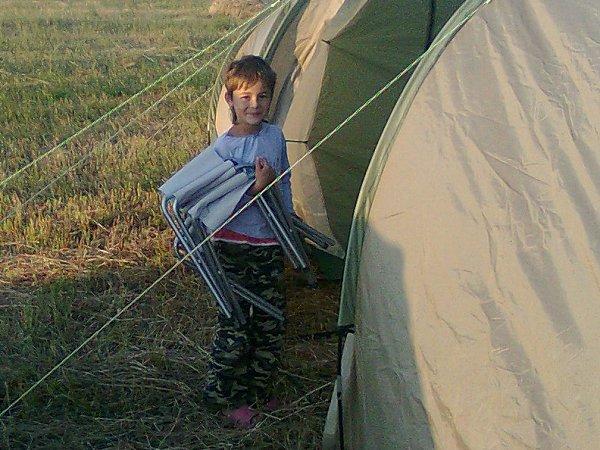 Nathalie als kampeerhulp