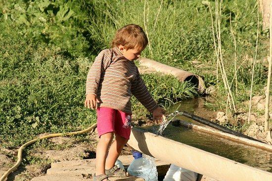 Wateraansluiting op de boerderij