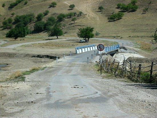 Nieuwe brug in Karatau