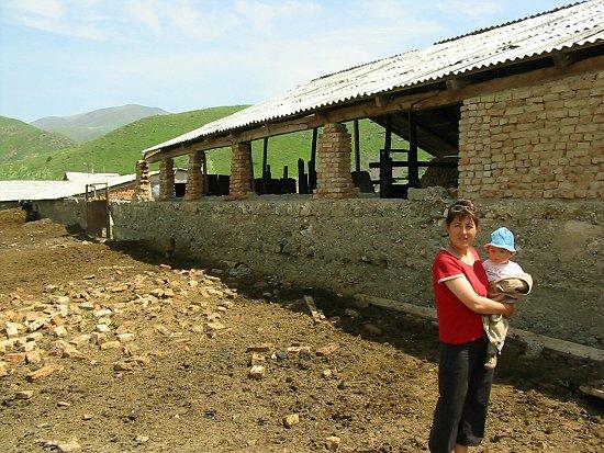 Foto van de nieuwe stal