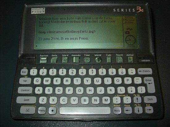 Mijn Psion 3C