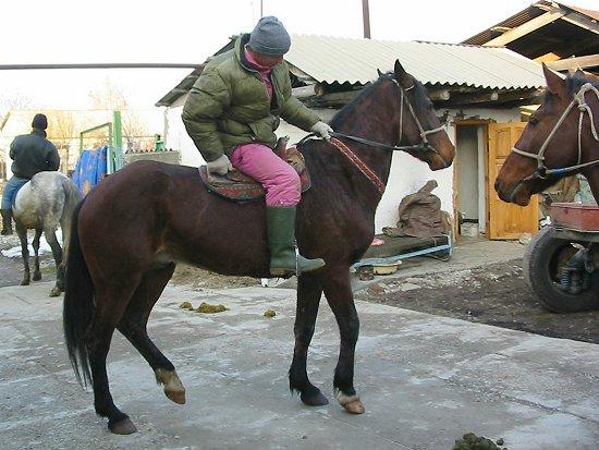 Ruslan op het paard