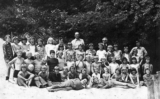 Schoolreisje 1978, klas 3, 4 en 5 basisschool Donkerbroek