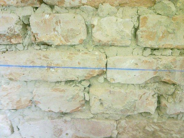 Slaglijn op de muur