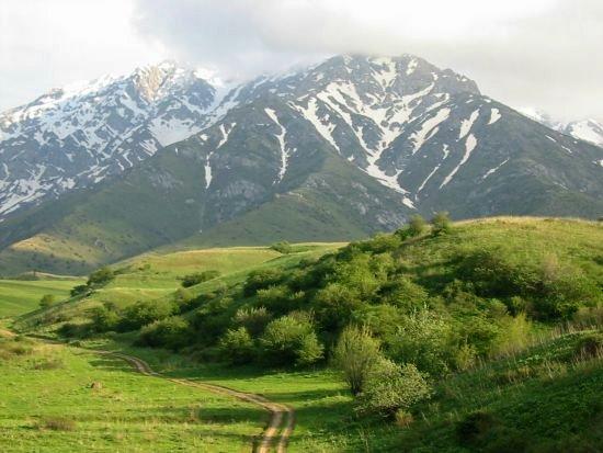 Landschap bij Zhabagly