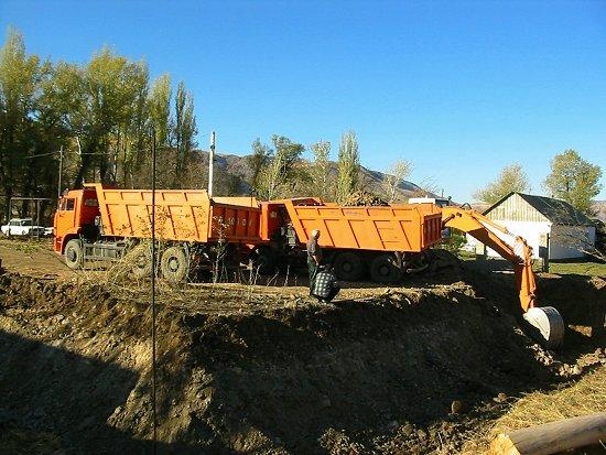 Graven van onze bouwput