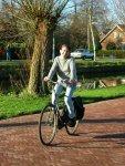 Elmira op de fiets