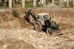 Tractor in de kelder