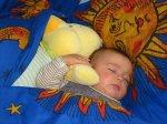 Slapen met knuffel Diederick