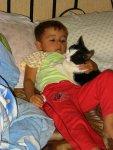 Nathalie met kat