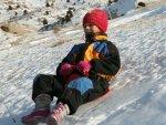 Nathalie in de sneeuw