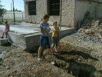 Sleuf graven voor de waterleiding