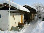 Sneeuw op de sauna