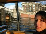 Elmira als toerist in Amsterdam