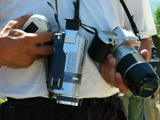 Toerist met camera's